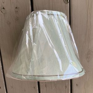 NWT Green/Gray Lampshade with Brown Accent